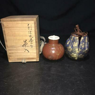 Tea Caddy Ceremony Chaire Sado Japanese Traditional Crafts t560