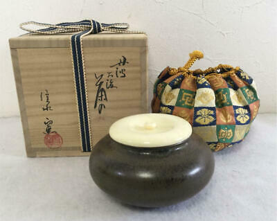 Tea Caddy Ceremony Chaire Tanba-Yaki Sado Japanese Traditional Crafts t561