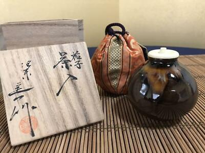 Tea Caddy Ceremony Chaire Sado Japanese Traditional Crafts t563