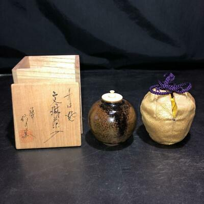 Tea Caddy Ceremony Chaire Tanba-Yaki Sado Japanese Traditional Crafts t566