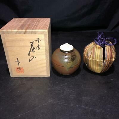Tea Caddy Ceremony Chaire Tanba-Yaki Sado Japanese Traditional Crafts t567