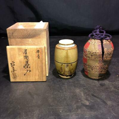 Tea Caddy Ceremony Chaire Sado Japanese Traditional Crafts t577