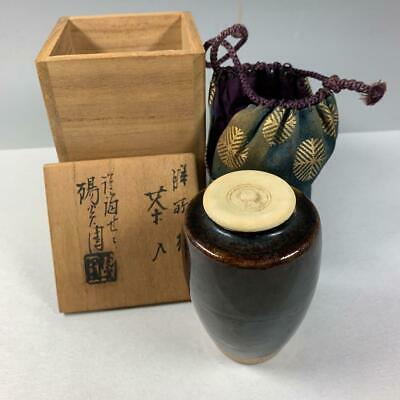 Tea Caddy Ceremony Chaire Sado Japanese Traditional Crafts t589