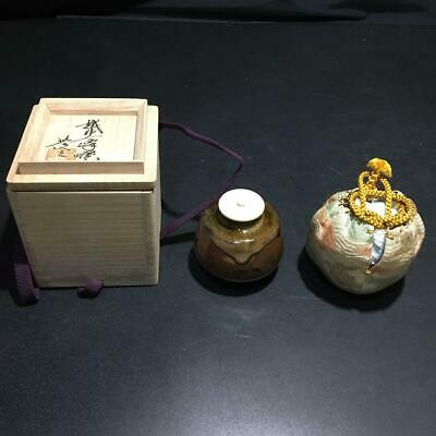 Tea Caddy Ceremony Chaire Sado Japanese Traditional Crafts t595