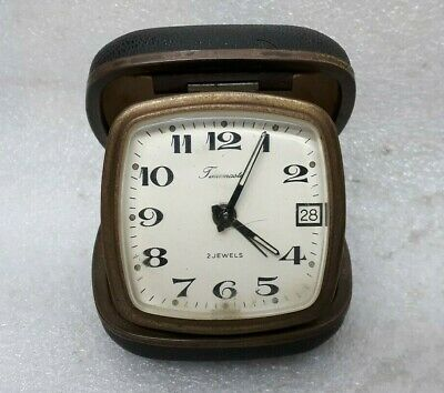 Vintage Old Travel Wind Up Alarm Clock Timemaster 2 Jewels Made In Germany MP