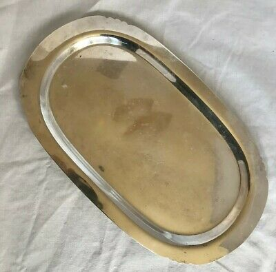 "Vintage Silver Plate Bread Cookie Tray 10"" x 6"" Wm Rogers 433 Made in USA"