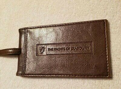The Yachts of Seabourn Luggage Tag Brown Leather