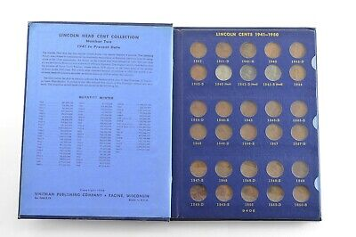 COMPLETE 1941-58 Lincoln Wheat Cent Set - Inc. Steel Cents - NICE Album *426