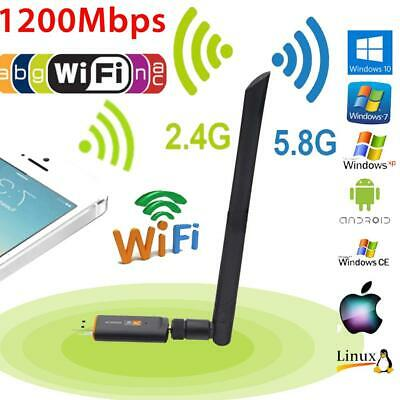 Adattatore USB Dual Band Wi-Fi Mbps wireless banda 2,4 antenna 1200 802.11AC GHz
