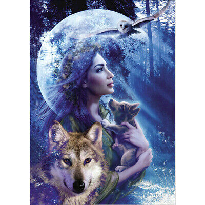 5D Diamond Painting Wolf Diamant Kreuzstich Stickerei Malerei Bilde Stickpackung