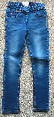 Next Girls Blue Skinny Jeans Size 8 Years