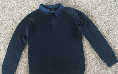 Next Boys Blue Jumper Size Age 4 Years