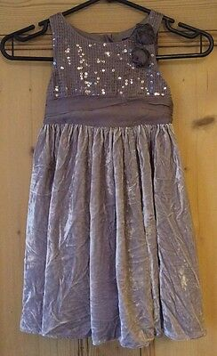 Girls Debenhams Dress Age 4 Years 104cm Mink Sleeveless Party Outfit Sequins