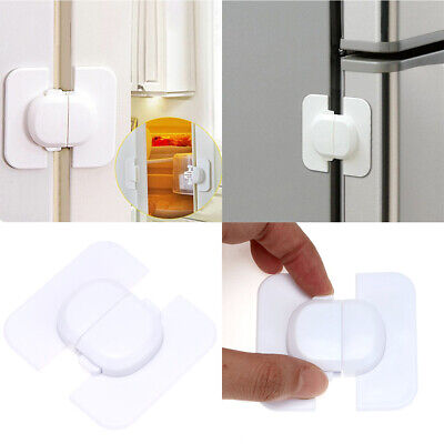 2X Baby Safety Door Lock Cupboard Fridge Cabinet for Kids Child Prevent Clamping