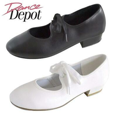 Dance Depot Girls Tap Dancing Shoes Black or White
