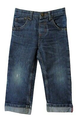 Baby Boys Debenhams Blue Distressed Denim Adjustable Waist Jeans Age 18-24 Month