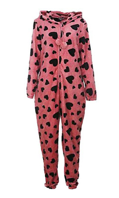 Womens & Girls Hooded Pajama All in One Jumpsuit Parent-Child Playsuit Nightwear