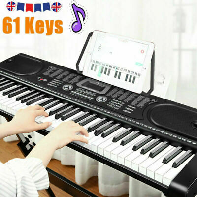 NEW 61 Keys Electronic Lighted Keyboard Piano MP3 Music Education Microphone Set