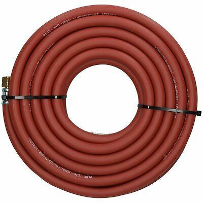 "Single Acetylene Fitted Rubber Hose Pipe Cutting & Welding 5M 3/8"" BSP Gas"