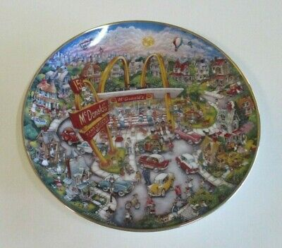 McDonald's 'Golden Moments' Fine Porcelain Limited Edition Plate - By Bill Bell
