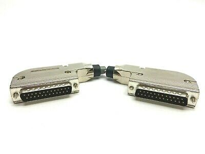 Zinc Coated Housing 25 Pin Male Angled Connector Lot of 2