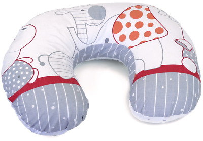 Feeding Pillow Baby Breast Pregnancy Maternity + Removable Cover Zoo Red