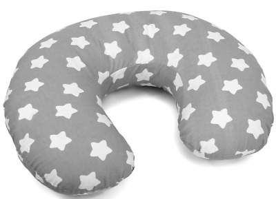 Feeding Pillow Baby Breast Pregnancy Maternity + Removable Cover Big White On Gr