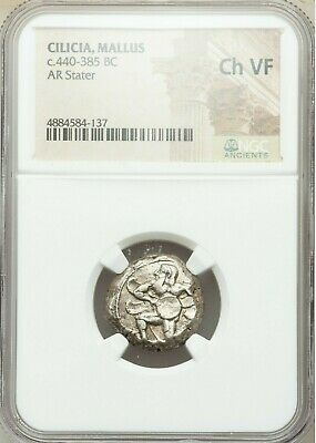 CILICIA. Mallus. Ca. 440-385 BC. AR stater (19mm, 8h). NGC Choice VF.