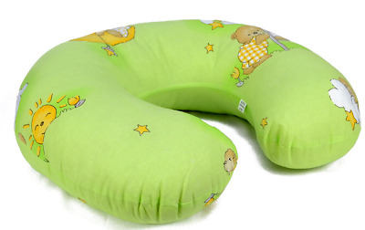 Feeding Pillow Baby Breast Pregnancy Maternity + Removable Cover Ladder Green
