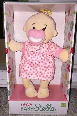 Manhattan Toy Wee Baby Stella Peach Soft Baby Doll Magnetic Pacifier Blonde