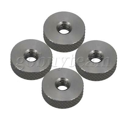 4 x Stainless Steel Flat Cylindrical Knurled Nuts M5 Thumb Nuts 16x5mm