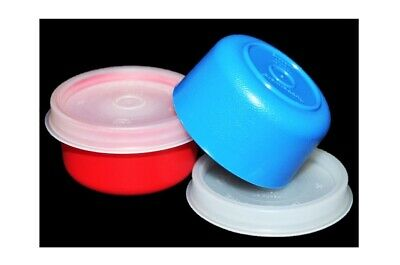 Tupperware Smidgets Set of 2 Little 1 oz. Mini Storage Containers Red & Blue