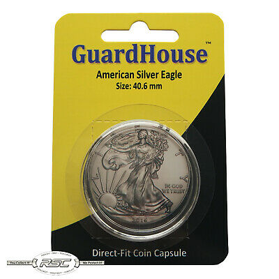 Lot of 10,06017 GUARDHOUSE DIRECT FIT CAPSULES FOR American Silver Eagle 40.6mm