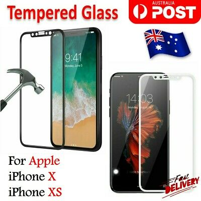 For Apple iPhone X For iPhone XS  Full Coverage Tempered Glass Screen Protector