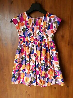 JOHN LEWIS FLORAL DRESS Girls Pink Orange Summer 8 Years / 128cm - NEW