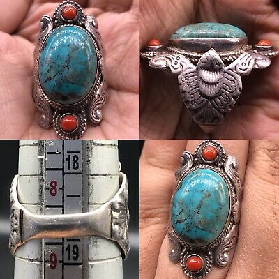 Silver Wonderful Lovely Ring antique turquoise Stone Lovely Ring