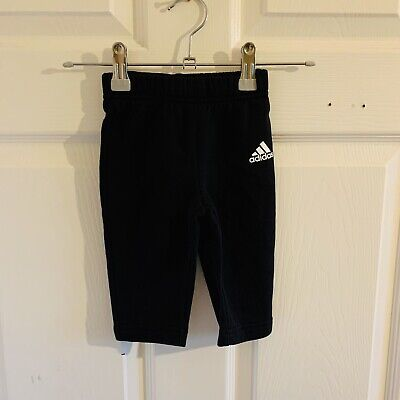 Black & White Adidas Joggers Age 3/6 Months Jogging Bottoms (3479)