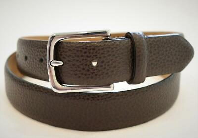 COLE HAAN MEN'S PEBBLE PANT BELT LEATHER w FEATHER EDGE SZ 40 BROWN NWT MSRP $78