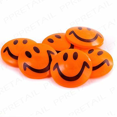 """12 x LARGE 2"""" SMILEY FACE MAGNETS Fun Cute Whiteboard/Fridge Memo/Message Holder"""