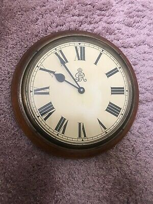 Fully Working! George V Fusee Wall Clock Antique Vintage Wooden VGC