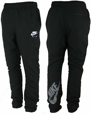 Nike Air Tracksuit Pant Black Skinny Fit Tapered Fitness Cuffed Bottoms #WPC1