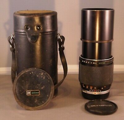 Olympus OM System E.Zuiko Auto-T 200mm f/4 Lens in Good Condition w/Hard Case!