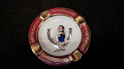 Vintage Small Limoges Napoleon Ashtray with Gold trim France