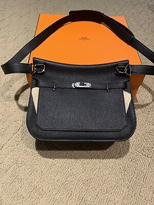 2019 Hermes Black Jypsiere 28 Taurillon Clemence Crossbody bag-NEW WITH RECEIPT