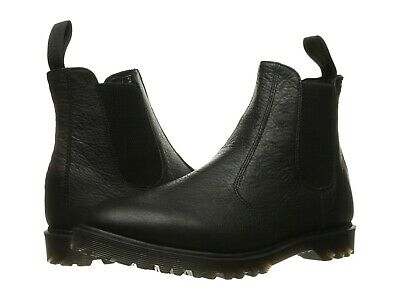 DR. MARTENS Men's 2976 Black Inuck Leather Chelsea Boots Casual Fashion Shoes