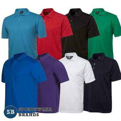 Mens Podium Poly Polo Shirt Team Wear Sports Club Quick Dry Cool Comfort 7SPP