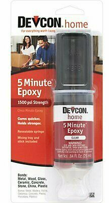 ITW Consumer/Devcon 20845 High Strength 5-Minute Epoxy with 25mL Syringe, Beg...