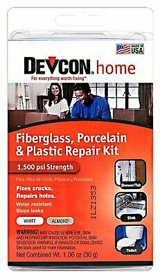 Devcon (90216-6PK) Fiberglass, Porcelain and Plastic Bathtub Repair Kit, (Pac...