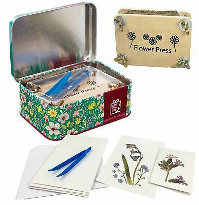 Apples To Pears Gift In a Tin - Flower Pressing Craft Gift Set **FREE DELIVERY**