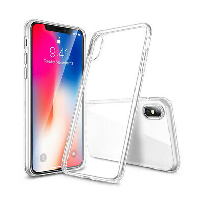 Ultra Sottile Trasparente TPU Custodia Cover per IPHONE Apple 5 6 7 8 XS Max XR